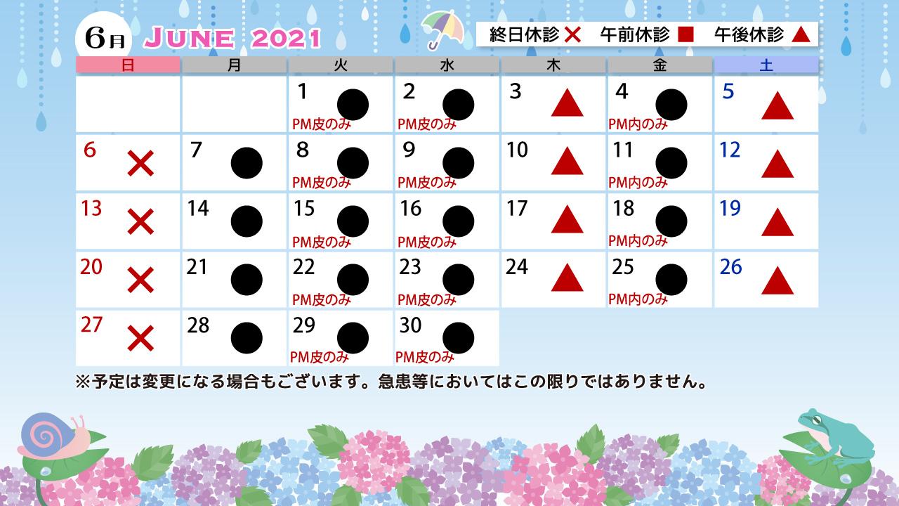 6月診療カレンダー