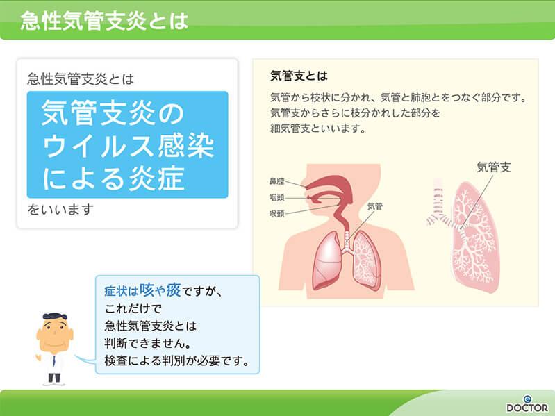 【図】急性気管支炎とは